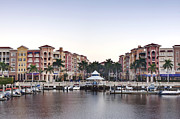 Docked Boat Prints - Bayfront Shopping Center and Marina Print by Rob Tilley