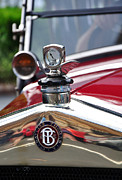 Collectors Car Framed Prints - Bayliss Thomas Badge and Hood Ornament Framed Print by Kaye Menner