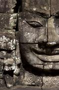 Architectural Details Photo Prints - Bayon Temple, Angkor, Cambodia Print by Deddeda