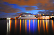 Reflecting Water Prints - Bayonne Bridge Print by Paul Ward