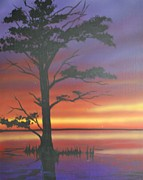 Gators  Paintings - Bayou Bark by DC Decker