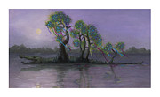 Drips Paintings - Bayou Bound by Richardson Comly