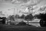 Alabama Framed Prints - Bayou LeBatre Shrimpboats Framed Print by Michael Thomas