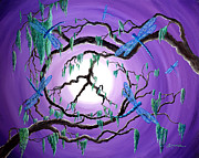 Visionary Art Painting Prints - Bayou Peace Tree Print by Laura Iverson
