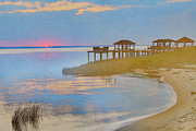 Lakes Digital Art - Bayside at the Beach by Randy Steele