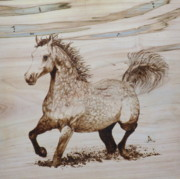 Wood Burning Pyrography Prints - Baytar the Bold Print by Jerrywayne Anderson