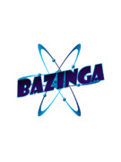 Tv Show Prints - Bazinga - Big Bang Theory Print by Bleed Art