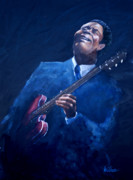 B.b.king Paintings - B.b. by Jonathon Williams