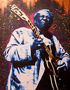B.b.king Paintings - BB King - Return Of The King by Bobby Zeik