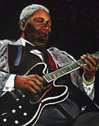 Kim Selig Prints - BB King Print by Kim Selig