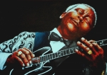 Music Tapestries Textiles Originals - BB King of the Blues by Richard Klingbeil