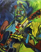 B.b.king Paintings - B.B. King by Wayne LE ONE