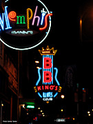 Night Life On Beale Street Framed Prints - BB Kings on Beale Street Framed Print by Suhas Tavkar
