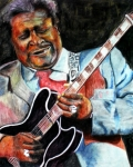B B King Posters - BBKing Poster by Frances Marino