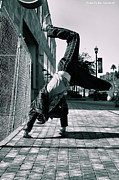 Break Dance Prints - Bboy on Brick 2 Print by Kat Loveland