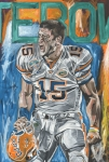 Tebow Art - BCS Champions by David Courson