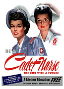 Featured Art - Be A Cadet Nurse by War Is Hell Store