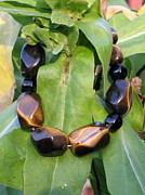Sterling Silver Bracelet Art - Be Bold. Wear Tigers Eye. by Naomi Mountainspring