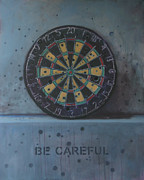 Bullet Painting Prints - Be Careful Print by Karl Seitinger