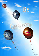 Motivational Posters Posters - Be Different Poster by Cheryl Young