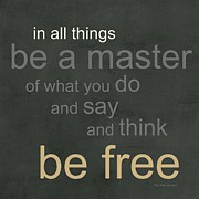 Quote Posters - Be Free Poster by Linda Woods