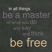 Be Free Print by Linda Woods
