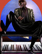 Super Star Painting Prints - Be Good To Ya - Ray Charles Print by Reggie Duffie