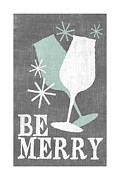 Meals Digital Art Posters - Be Merry Poster by Misty Diller