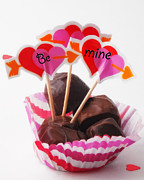 Cupcake Love Posters - Be Mine Poster by Billie-Jo Miller