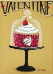 Cupcake Paintings - Be Mine Valentine by Catherine Holman