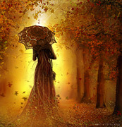 Print Digital Art Originals - Be My Autumn by Amalia Iuliana Chitulescu