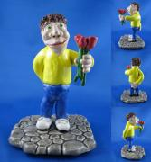 Small Statue Ceramics - Be my Valentine by Bob Dann