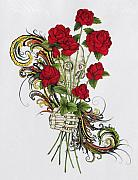 Skeleton Hand Framed Prints - Be My Valentine Framed Print by Vernon Farris