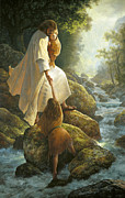 Rocks Art - Be Not Afraid by Greg Olsen