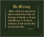 Bible Scripture Canvas Posters - Be Strong Poster by Greg Long