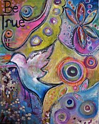 Dove Painting Originals - Be True by Martina Schmidt