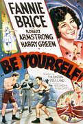 Boxing  Framed Prints - Be Yourself, Fanny Brice, 1930 Framed Print by Everett