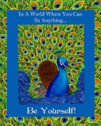 Affirmation Mixed Media Posters - Be Yourself Poster by The Art With A Heart By Charlotte Phillips