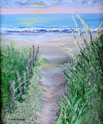 Graves Paintings - Beach Access by Lisa Graves