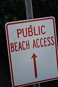 Beach Access Print by Static Studios