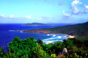 Puerto Rico Photo Posters - Beach and Cayo Norte from Mount Resaca Poster by Thomas R Fletcher