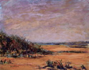 New Jersey Pastels Originals - Beach and Dunes by Joyce A Guariglia