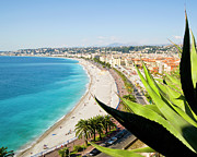 Nice Art - Beach And Promenade Danglais, Nice, Cote Dazur, by John Harper