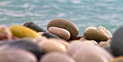 Abstract Beach Landscape Prints - Beach And Stones Print by Stylianos Kleanthous