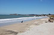 Beach At El Granada Print by Carolyn Donnell