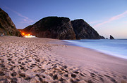 Footprints Photo Prints - Beach at evening Print by Carlos Caetano