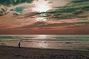 Robert Bissett - Beach at Sunset