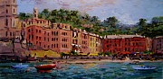 Terra Painting Originals - Beach at Vernazza by R W Goetting