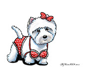 Puppy Mixed Media - Beach Babe Westie by Catia Cho