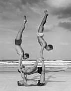 Human Interest Posters - Beach Balance Poster by Fpg